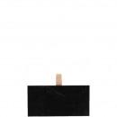 Holz Tafel Tanami mit Clip, L10cm, B0,3cm, H5cm, 2